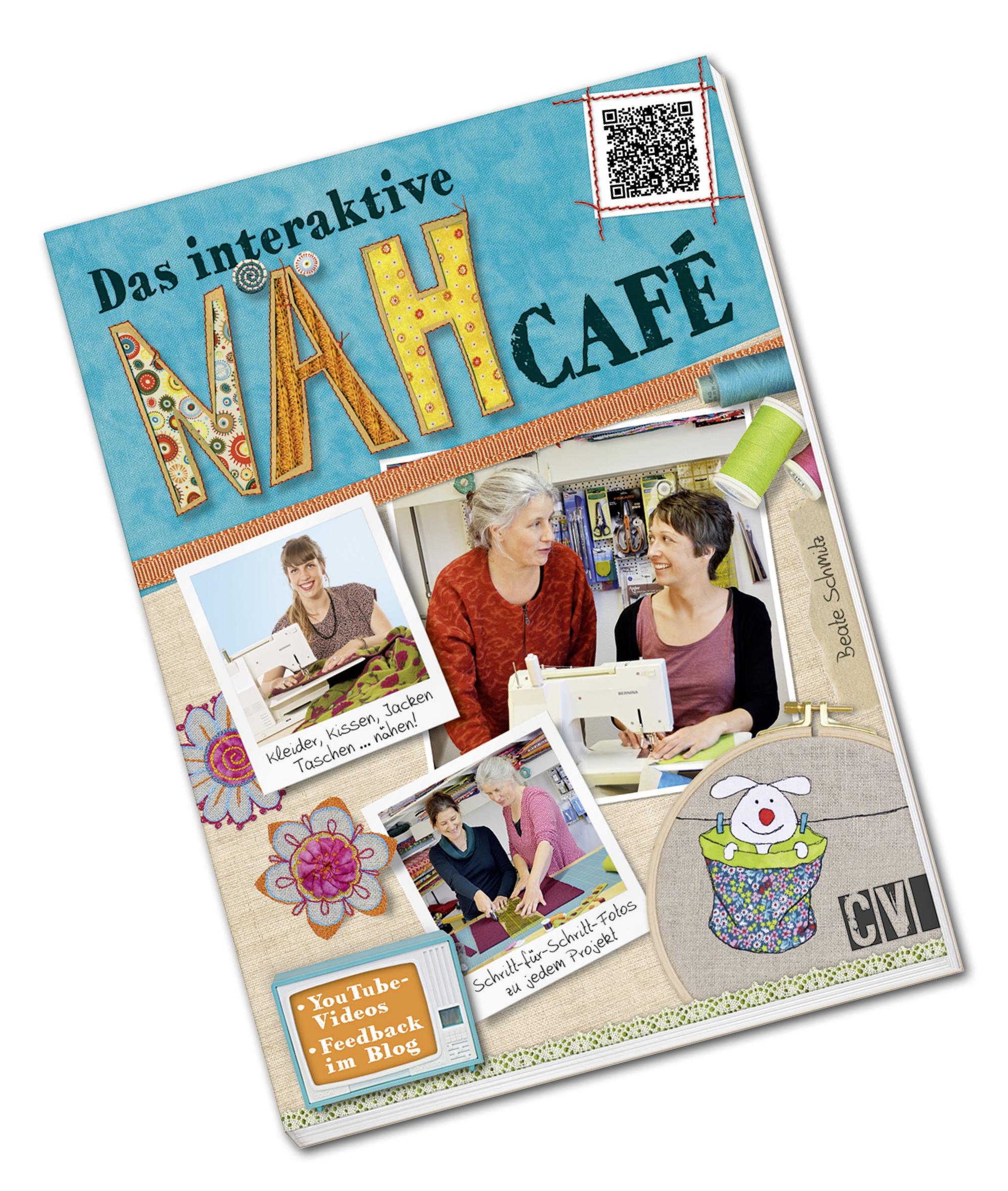 Das interaktive Nähcafé, Nähbuch, Nähanleitungen für Einsteiger und Fortgeschrittene, originalgroße Schnittmuster