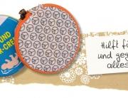 Tasche für Cremedose, Gratis Anleitung, Schnittmuster, Täschchen, Kosmetiktasche
