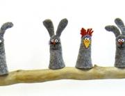 Ostern hase huhn Anleitung gratis Osterkarte Karte Grußkarte