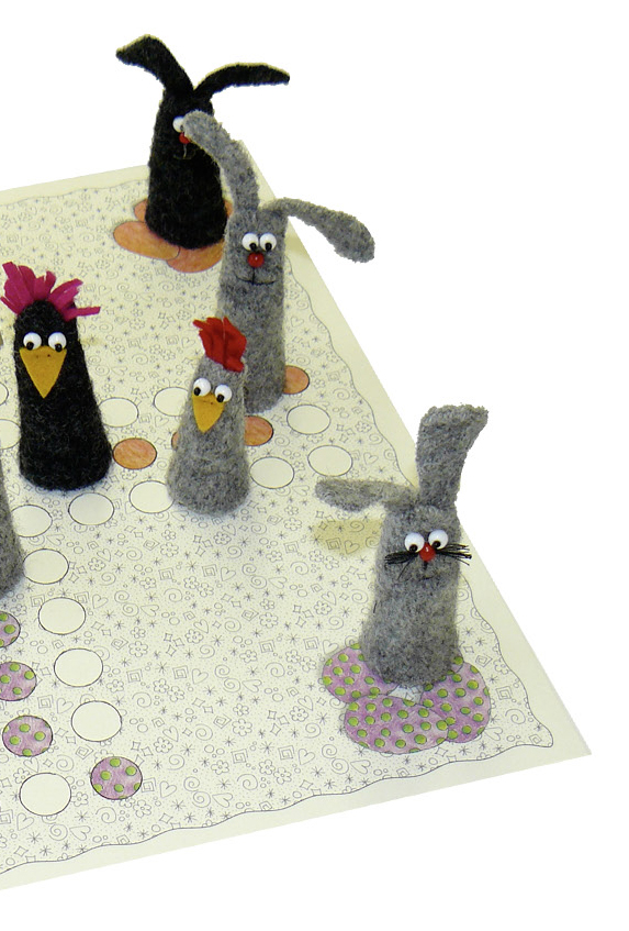 Spiel Nähzimmer hase, Huhn, Ostern, Basteln, Kinder, gratis