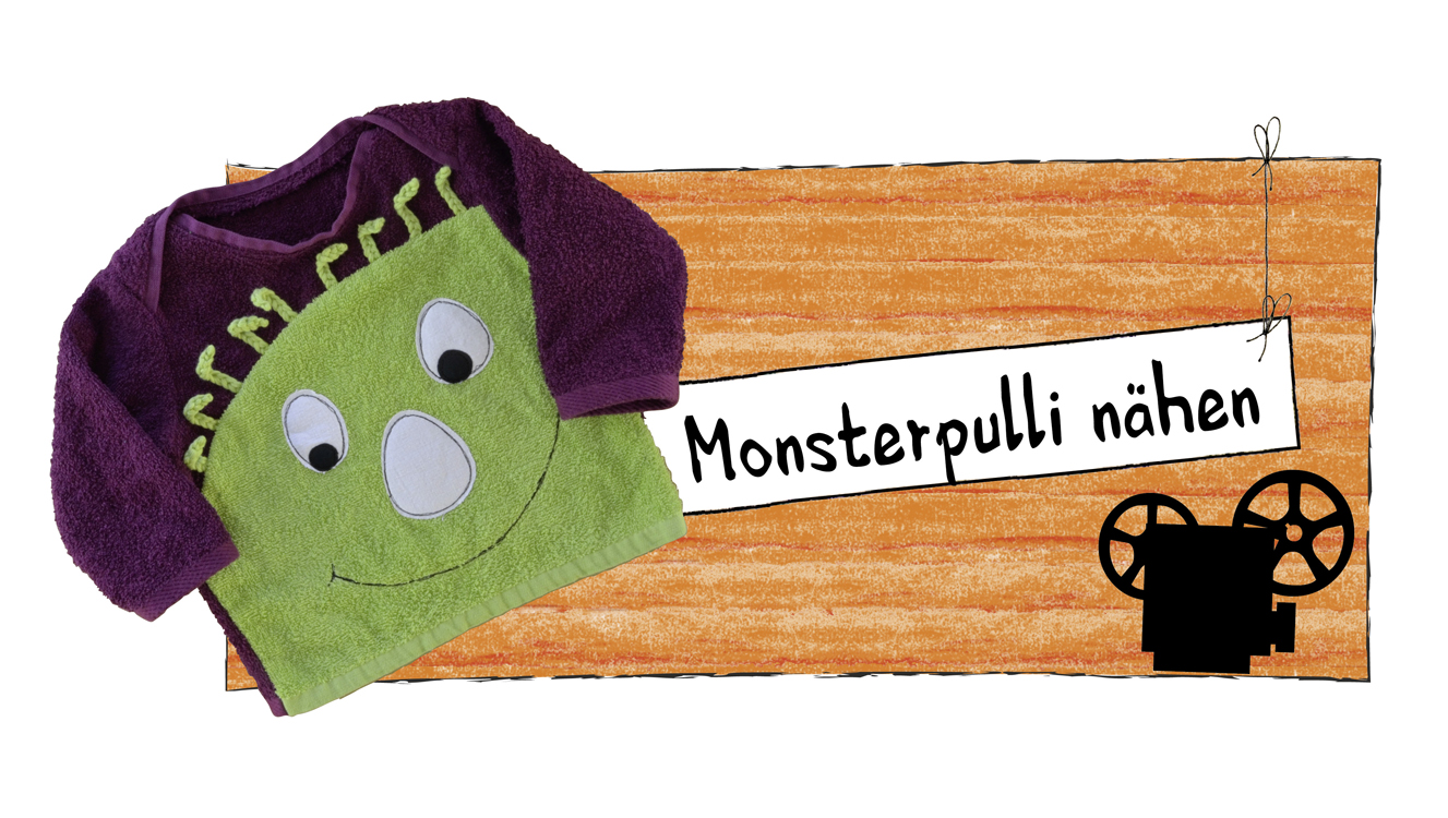 Monsterpulli, Kinderpulli, Sweatshirt, Das Nähzimmer