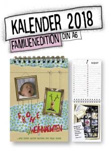 Kalender 2018, Familienedition, individuelle Weihnachtskarte mit eigenen Fotos, Geburtstage eintragen