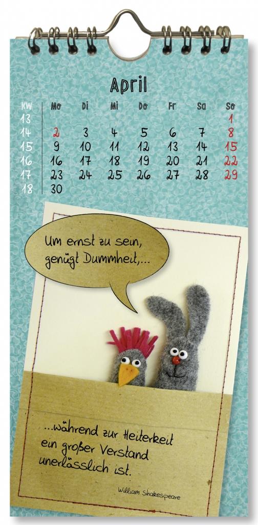 Kalender 2018, Firmenwerbung, Gutscheine, Weihnachtskarte, witzige Sprüche, Postkartenkalender