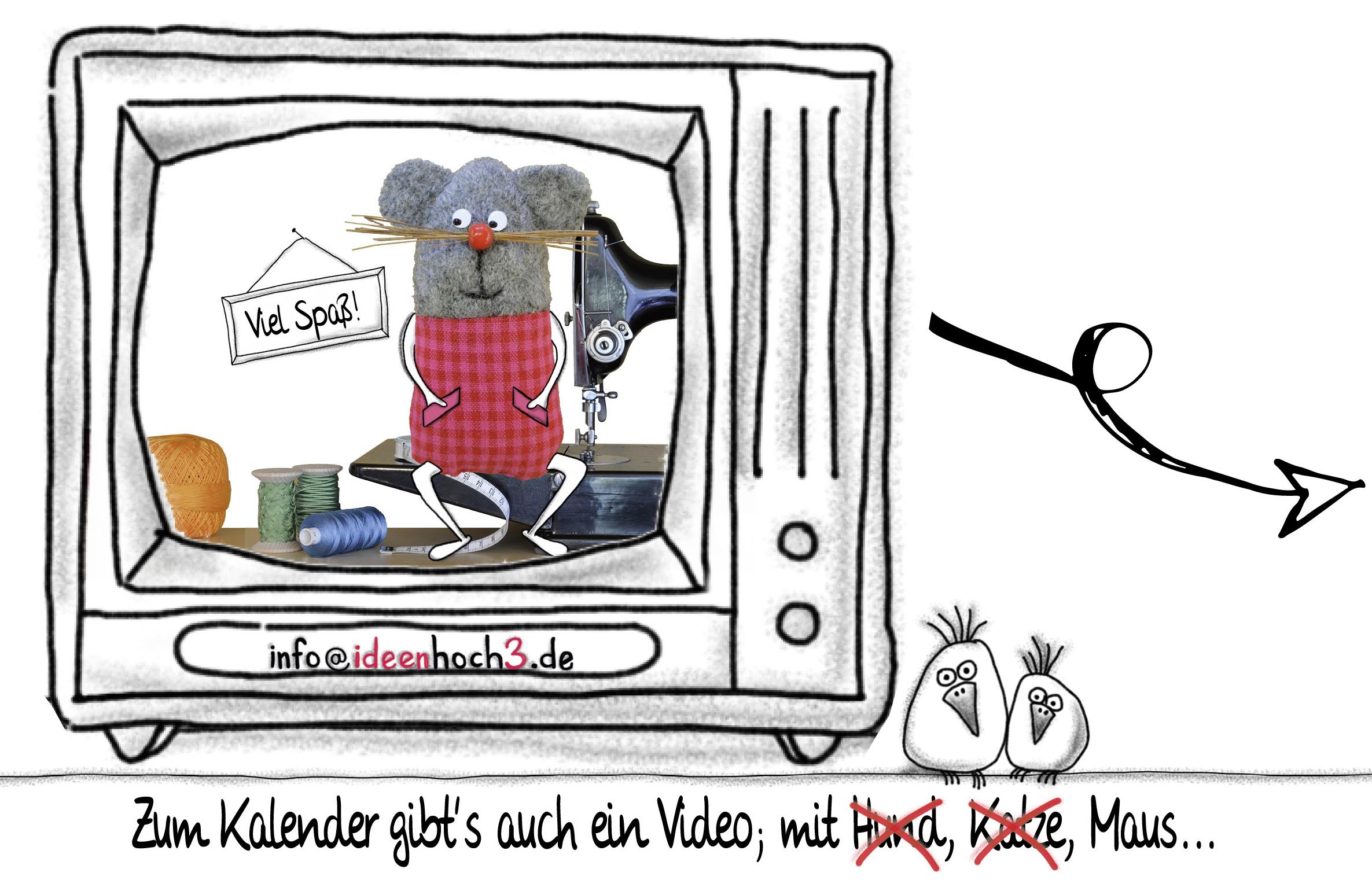 Kalender 2018, Weihnachtskarte, Postkartenkalender, Familienedition, individuelle Weihnachtskarte mit eigenen Fotos, Geburtstage eintragen
