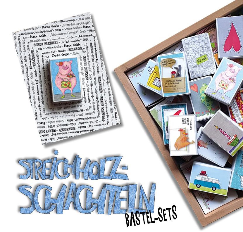 Streichholzschachtel, Karten, Bastel-Sets, Gutscheinkarte, Geburtstagskarte, 3D-Karte, besondre Karte, Mini-Box, das Nähzimmer, ideenhoch3,Mini-Schachtel
